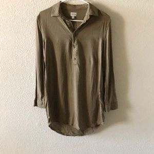 Army green button up tunic